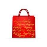 Saco vermelho Imagem de Stock Royalty Free