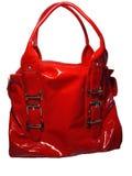 Saco vermelho da mulher Imagens de Stock Royalty Free