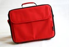 Saco vermelho do caderno imagens de stock