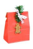 Saco vermelho do Natal Fotos de Stock Royalty Free