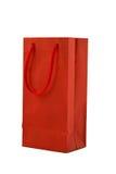 Saco vermelho do presente Fotografia de Stock Royalty Free