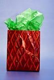 Saco vermelho do presente Foto de Stock
