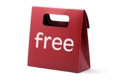 Saco vermelho livre Fotografia de Stock Royalty Free