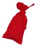 Saco vermelho nos às bolinhas Imagem de Stock Royalty Free