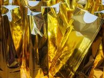 Sacos bem-vindos dourados Fotografia de Stock