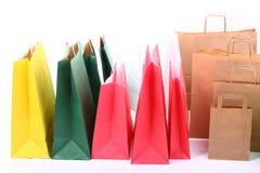 Sacos coloridos de compra do presente   Imagens de Stock Royalty Free