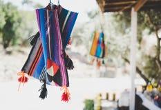 Sacos coloridos Handmade imagens de stock