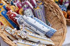 Sacos com alfazema no mercado Imagem de Stock