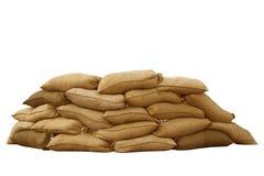 Sacos de areia Imagem de Stock