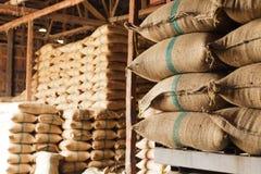 Sacos de arroz Fotos de archivo