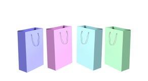 Sacos de compra coloridos Imagem de Stock
