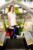 Sacos de compra da mulher Fotos de Stock Royalty Free