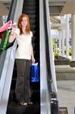 Sacos de compra da mulher Fotos de Stock