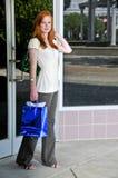 Sacos de compra da mulher Fotografia de Stock Royalty Free