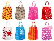 Sacos de compra diferentes Foto de Stock Royalty Free