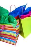 Sacos de compra verticais Imagem de Stock