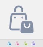 Sacos de compras - ícones do granito ilustração do vetor
