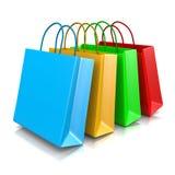 Sacos de compras Foto de Stock