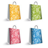 Sacos de compras coloridos Imagens de Stock Royalty Free