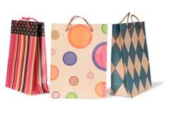 Sacos de compras de papel Fotografia de Stock