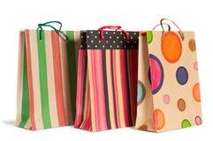 Sacos de compras de papel Fotos de Stock