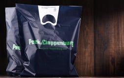 Sacos de compras do plástico original do auge & do Cloppenburg Imagens de Stock
