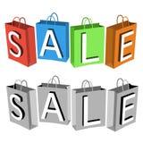 Sacos de compras do vetor Fotos de Stock