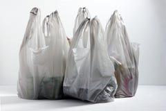 Sacos de compras plásticos fotos de stock