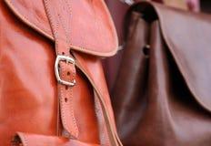 Sacos de couro Foto de Stock