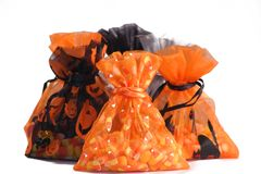 sacos de deleites de Halloween Fotos de Stock Royalty Free