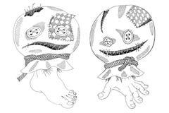 Sacos de Dia das Bruxas ilustração stock