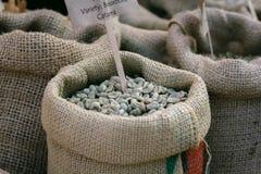 Sacos de feijões de café Imagem de Stock Royalty Free