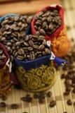 Sacos de feijões do café Fotos de Stock