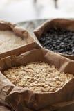 Sacos de granos. Foto de archivo