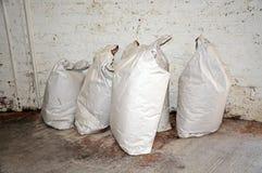 Sacos de harina grandes Imagen de archivo libre de regalías