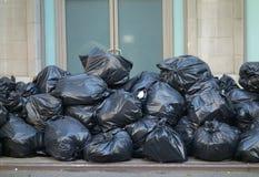 Sacos de lixo imagem de stock