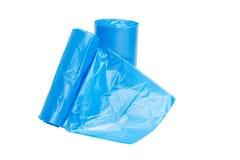 Sacos de lixo azuis Fotografia de Stock