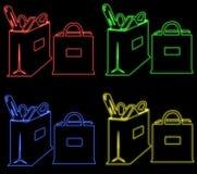 Sacos de néon Foto de Stock Royalty Free