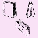 Sacos de papel Imagens de Stock