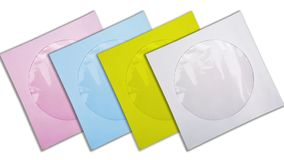 Sacos de papel para o CD Fotografia de Stock Royalty Free