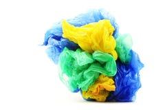 Sacos de plástico isolados no fundo branco Imagem de Stock