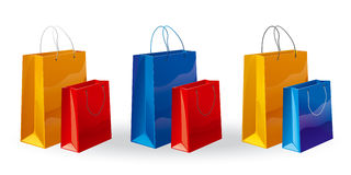 Sacos de Shoping Fotografia de Stock Royalty Free