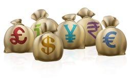 Sacos do dinheiro Fotografia de Stock