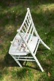 Sacos dos presentes para os convidados que encontram-se no chiavari chairs-2 Fotografia de Stock Royalty Free