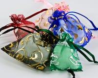 Sacos feitos mão do presente Fotografia de Stock Royalty Free