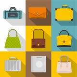 Sacos para todo o grupo do ícone das ocasiões, estilo liso ilustração royalty free