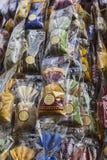 Sacos pequenos das lembranças de Avignon com alfazema foto de stock royalty free