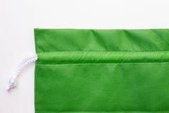 Sacos verdes de pano imagem de stock