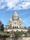 Sacré-Cœur Basilica in Paris, France. April 2018. The Basilica of the Sacred Heart of Paris, commonly known as Sacré-Cœur Basilica. Famous, Travel stock photo