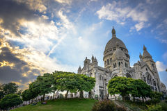 Sacré-C�ur Basilica at sunset Stock Image